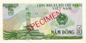 Vietnam / Viet Nam P.092s 5 Dong 1985 Specimen (1)