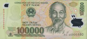 Vietnam / Viet Nam P.122b 100.000 Dong (2005) Polymer (1)