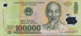 Vietnam / Viet Nam P.122e 100.000 Dong (2008) Polymer (1)