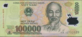 Vietnam / Viet Nam P.122h 100.000 Dong (2012) Polymer (1)