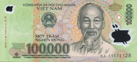 Vietnam / Viet Nam P.122g 100.000 Dong (2011) Polymer (1)