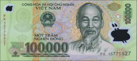 Vietnam / Viet Nam P.122k 100.000 Dong (2015) Polymer (1)