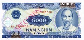 Vietnam / Viet Nam P.108s 5000 Dong 1991 Specimen (1)