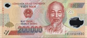 Vietnam / Viet Nam P.123 200.000 Dong (2010-13) Polymer (1)