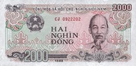Vietnam / Viet Nam P.107 2000 Dong 1988 (1)