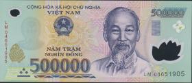 Vietnam / Viet Nam P.124b 500.000 Dong (2004) Polymer (1)