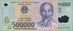 Vietnam / Viet Nam P.124d 500.000 Dong (2006) Polymer (1)