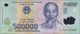Vietnam / Viet Nam P.124e 500.000 Dong (2008) Polymer (1)