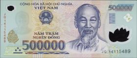 Vietnam / Viet Nam P.124j 500.000 Dong (2014) Polymer (1)