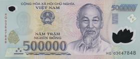 Vietnam / Viet Nam P.124a 500.000 Dong (2003) Polymer (1)