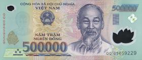 Vietnam / Viet Nam P.124f 500.000 Dong (2009) Polymer (1)