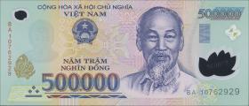 Vietnam / Viet Nam P.124g 500.000 Dong (2010) Polymer (1)