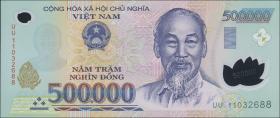 Vietnam / Viet Nam P.124h 500.000 Dong (2011) Polymer (1)