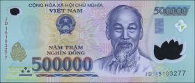 Vietnam / Viet Nam P.124k 500.000 Dong (2015) Polymer (1)