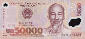 Vietnam / Viet Nam P.121b 50000 Dong (2004) Polymer (1)