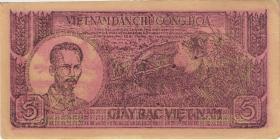 Vietnam / Viet Nam P.017 5 Dong (1948) rot (2+)