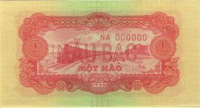Vietnam / Viet Nam P.068s 1 Hao 1958 Specimen (1)