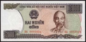 Vietnam / Viet Nam P.103a 2.000 Dong 1987 (1)