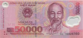 Vietnam / Viet Nam P.121k 50.000 Dong (20)16 Polymer (1)