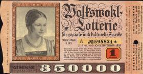 Volkswohl Lotterie 1 Mark 1932 (2)