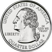 USA 1/4 Dollar 2001 State-Quarter komplett