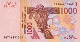 Togo P.neu 1000 Francs 2014 Togo (1)
