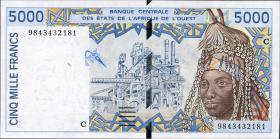Burkina Faso P.313Ci 5000 Francs (1999) (1)