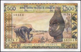 West-Afr.Staaten/West African States P.802Tm 500 Francs o.J. (1)