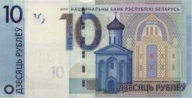 Weißrussland / Belarus P.neu 10 Rubel 2019 (1)