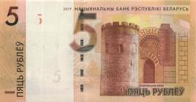 Weißrussland / Belarus P.neu 5 Rubel 2019 (1)