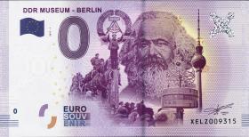 0 Euro Souvenir Schein DDR Museum Berlin  (1)