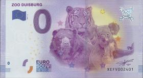 0 Euro Souvenir Schein Zoo Duisburg (1)