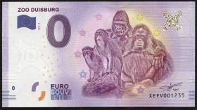0 Euro Souvenir Schein Zoo Duisburg III (1)