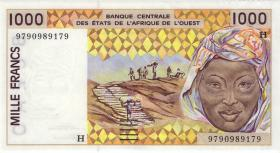 West-Afr.Staaten/West African States P.611Hg 1000 Francs 1997 Niger (1)