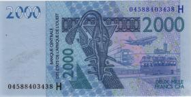 West-Afr.Staaten/West African States P.616Hb 2000 Francs 2004 Niger (1)