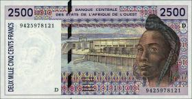 West-Afr.Staaten/West African States P.412Dc 2500 Francs 1994 (1)
