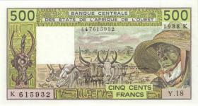 West-Afr.Staaten/West African States P.706Ka 500 Fr. 1988 (1)