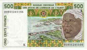 West-Afr.Staaten/West African StatesP.710Kl 500 Fr. 2001 (1)