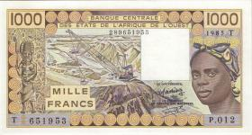 West-Afr.Staaten/West African States P.807Tf 1000 Francs 1985 (1)