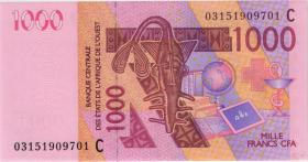 West-Afr.Staaten/West African States P.315Ca 1000 Francs 2003 (1)