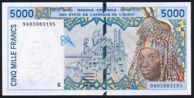 West-Afr.Staaten/West African States P.713Kc 5000 Francs Senegal 1994 (1)