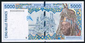 West-Afr.Staaten/West African States P.713Kd 5000 Francs Senegal 1995 (1)