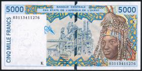 West-Afr.Staaten/West African States P.713Km 5000 Francs Senegal 2003 (2)