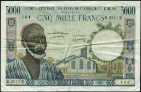 West-Afr.Staaten/West African States P.704Kl 5000 Francs (1959-1965) (3)