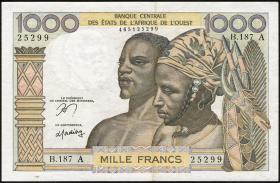 Elfenbeinküste / Ivory Coast P.103Am 1000 Francs (1959-65) (2)