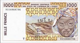 Togo P.811Te 1000 Francs 1995 (1)