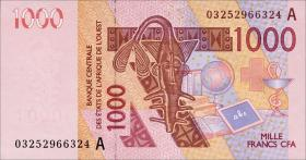 West-Afr.Staaten/West African States P.115Aa 1000 Francs 2003 (1)