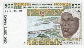 Senegal P.710Kb 500 Francs 1992 (1)