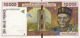 West-Afr.Staaten/West African StatesP.114Aj 10000 Francs 2001 (1)