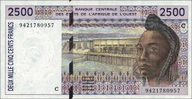 West-Afr.Staaten/West African States P.312Cc 2500 Francs 1994 (1)
